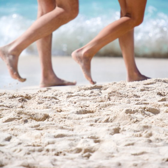 Feel some sand between your toes at a couples-only resort.