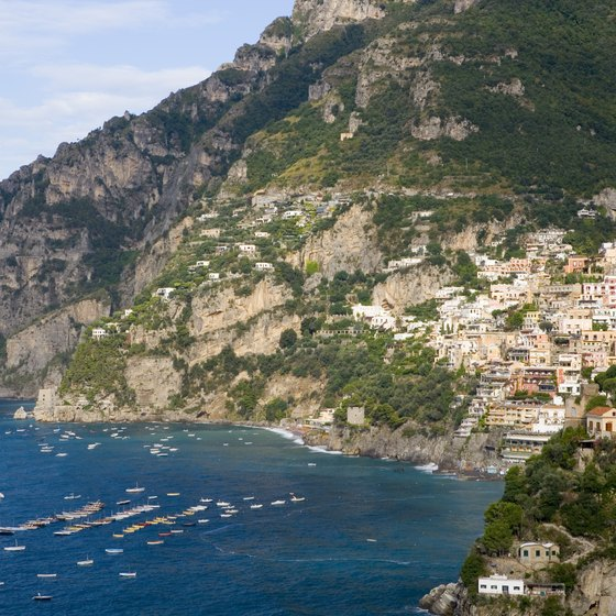 Positano is one of the villages on the beautiful Amalfi Coast in Italy.
