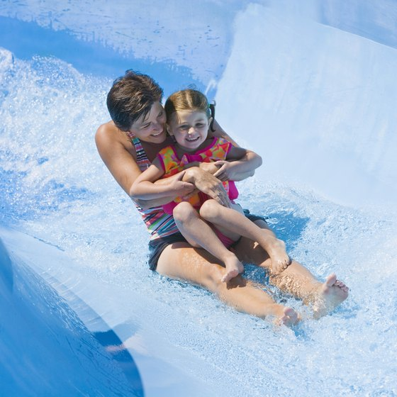 Wilderness Territory includes indoor and outdoor water slides.