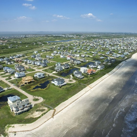 Camping cabins are available near Galveston on the Texas coast.
