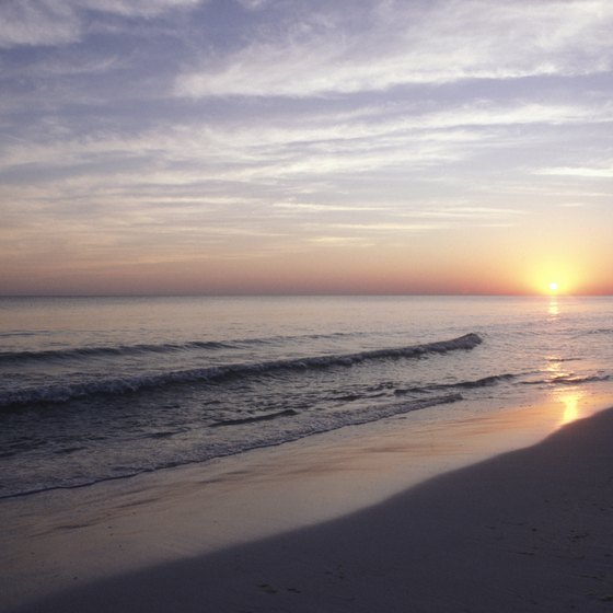 Amazing sunsets are just one of the benefits of beachfront condominiums in Destin, Florida.