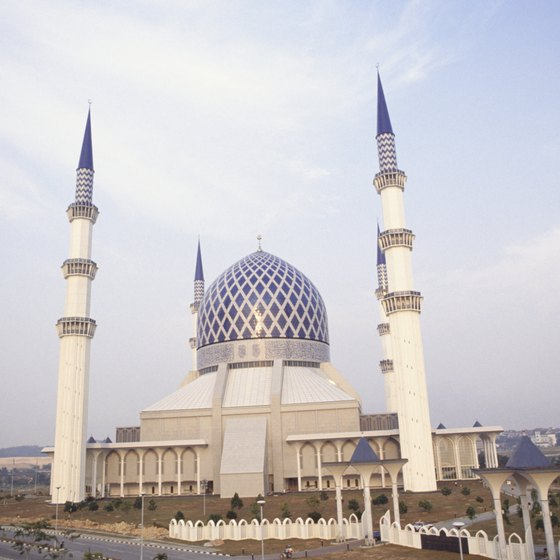 The blue mosque is one of Shah Alam's most notable landmarks.