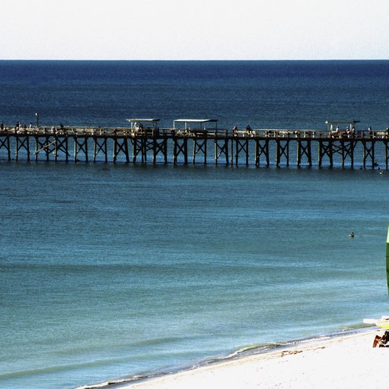The white-sand beaches of Naples, Florida, attract vacationers year-round.