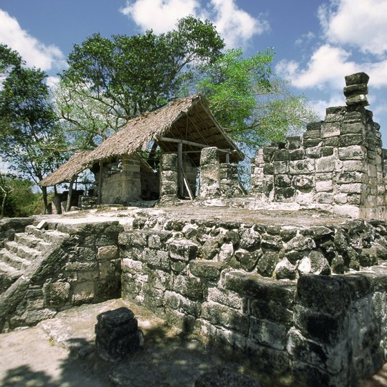 The Mayan ruins at San Gervasio include temples honoring Ixchel, the moon goddess.