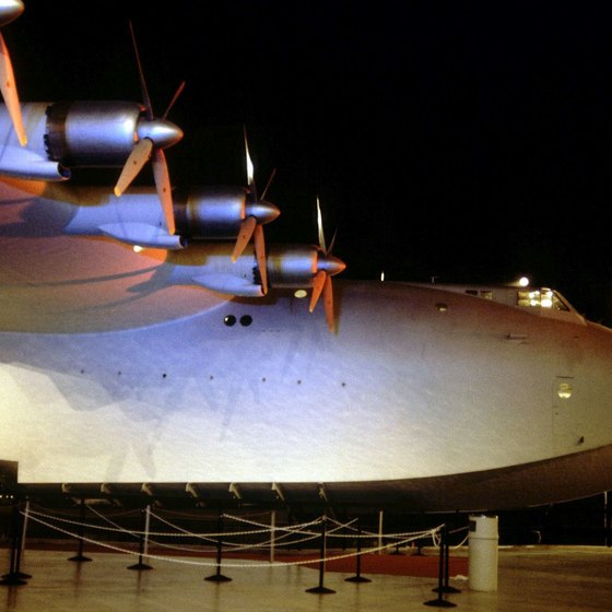 "The massive ""Spruce Goose"" is a major attraction at McMinnville's Evergreen Museum."