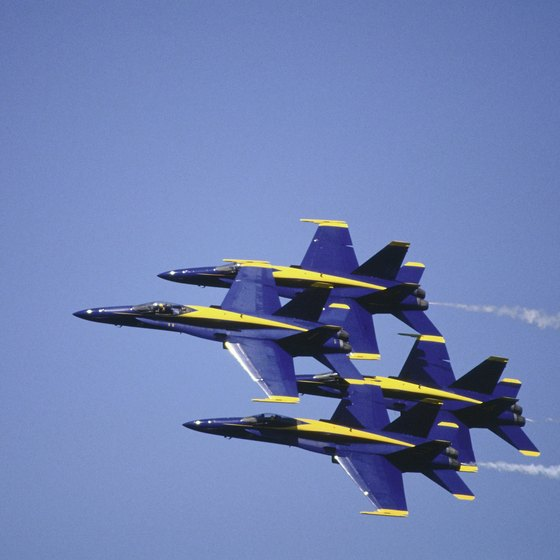 See the Blue Angels perform breathtaking aerial stunts near Pensacola.