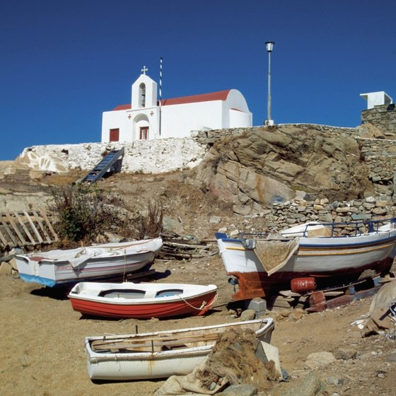 Mykonos is home to more than 250 churches.