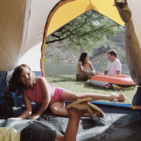 Michigan offers camping on a number of its scenic rivers.