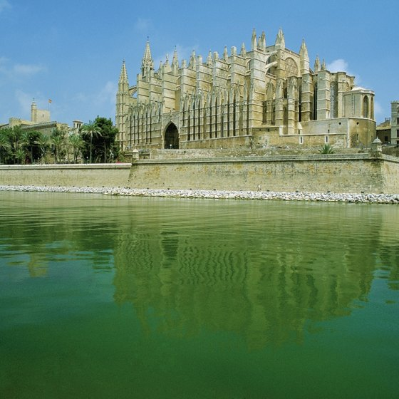 The dramatic cathedral in Palma, capital of Mallorca.