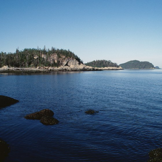 The scenic St. Lawrence River provides stunning views for visitors and residents in Alex Bay.