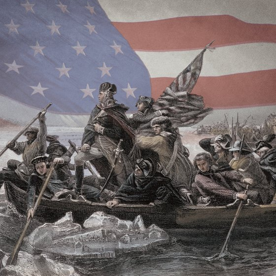 A re-enactment of Washington crossing the Delaware attracts Christmas crowds to Washington Crossing Historic Park.
