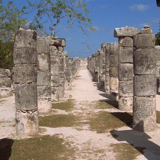 Group of the Thousands Columns is just one part of the archaeological park at Chichen Itza.