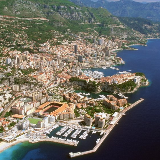 Monte Carlo is perched just north of the Port of Monaco, on the Mediterranean.