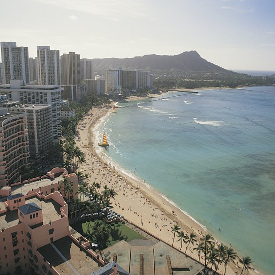 Ala Moana is just east of downtown Honolulu.