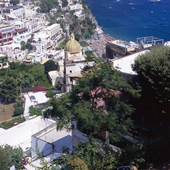 Positano is one of the larger villages overlooking the Amalfi Coast.