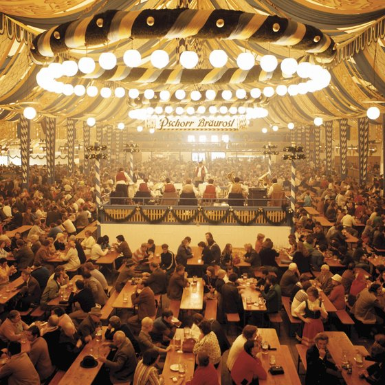 Beer tents are a traditional feature of Oktoberfest in Munich.