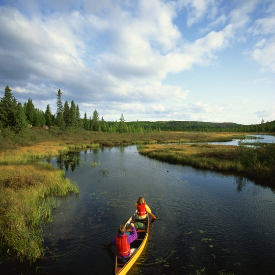 Canoeing is a popular activity in most of Ontario's parks.