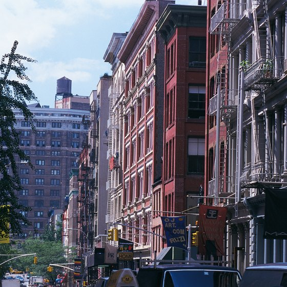 Greene Street in New York City runs through trendy SoHo.