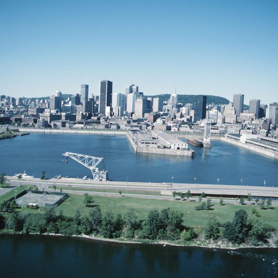 Montreal sits along the St. Lawrence River.