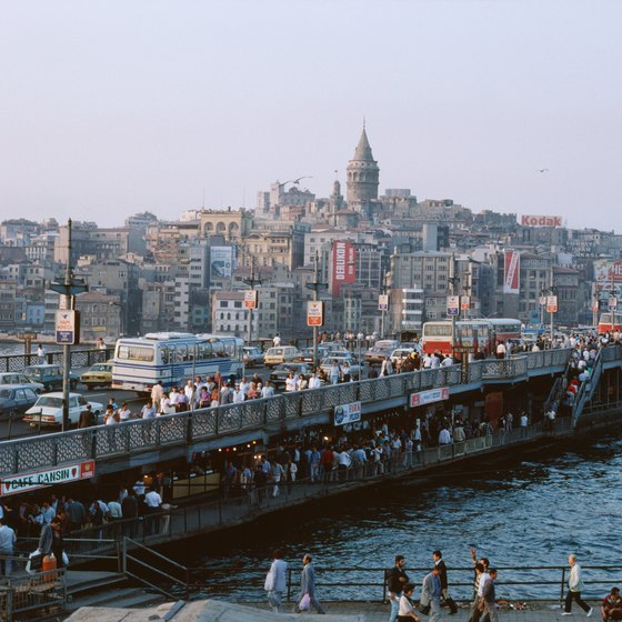 Istanbul sits on the Bosporus, which forms part of the border between Europe and Asia.
