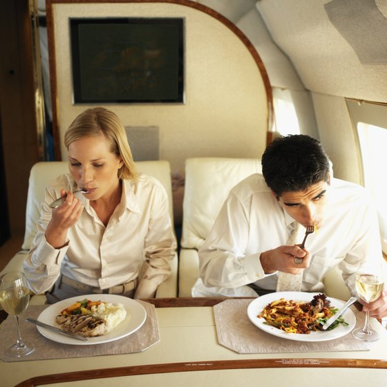 Enjoy complimentary meals with an upgrade on a Virgin America flight.