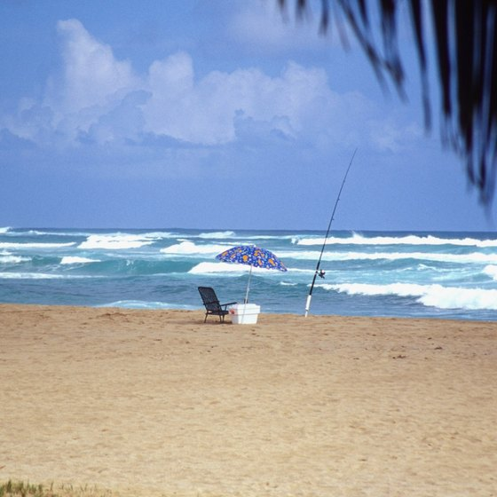 Shore fishing, Hawaiian style.