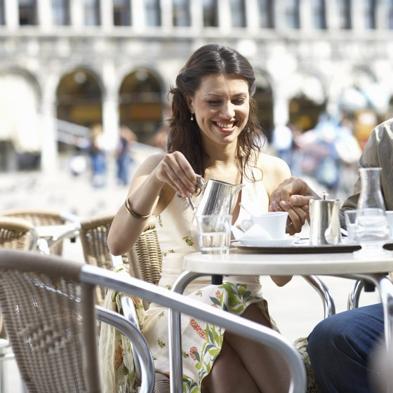Italy's cafes offer a relaxed ambience for socializing and people-watching.