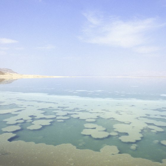 The Dead Sea sits on Palestine's western edge.