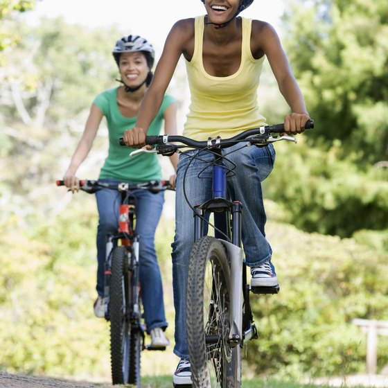 Teens can explore the small town by bike.