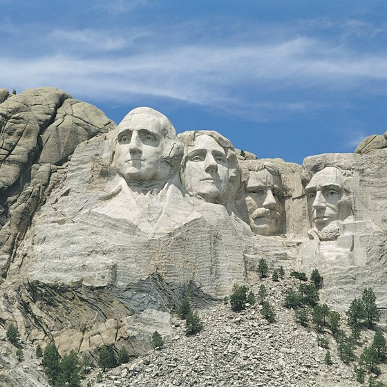 Mount Rushmore National Memorial is in the Black Hills of South Dakota.