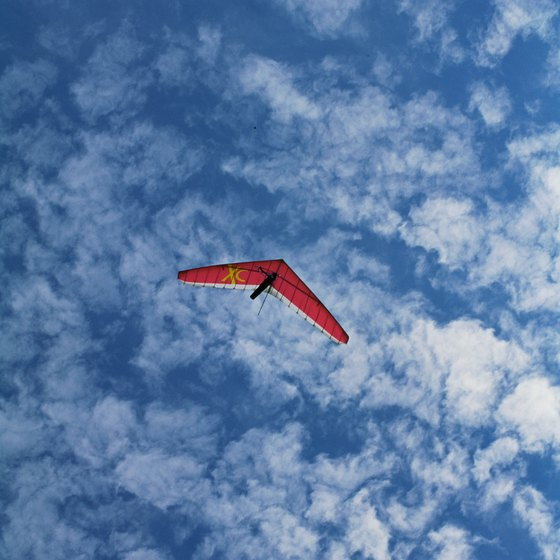 Hang gliders offer you the opportunity to view Colorado countryside from the air.