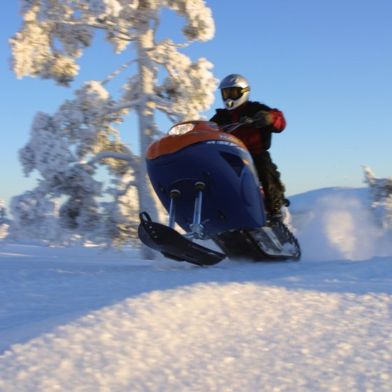 Enjoy Wausau's winter landscape on a snowmobile.