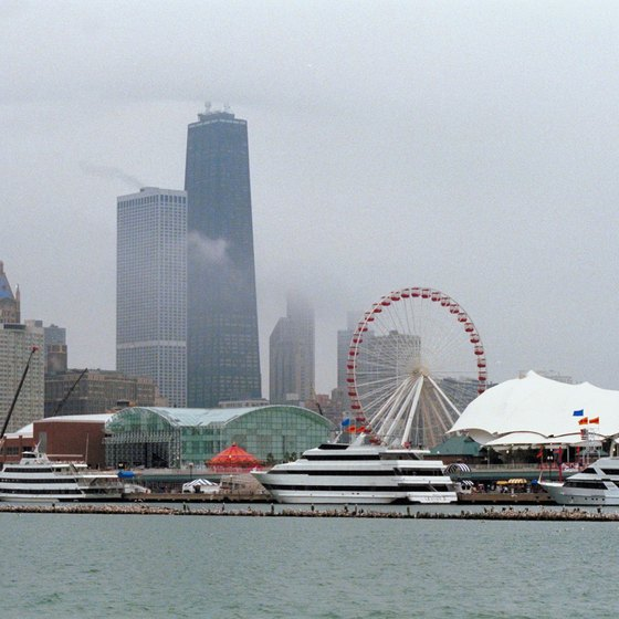 Water taxis provide easy access to Chicago's Navy Pier.