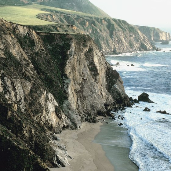Camping is popular in Big Sur, California, which sits along a long, mountainous stretch of the Pacific Coast Highway.