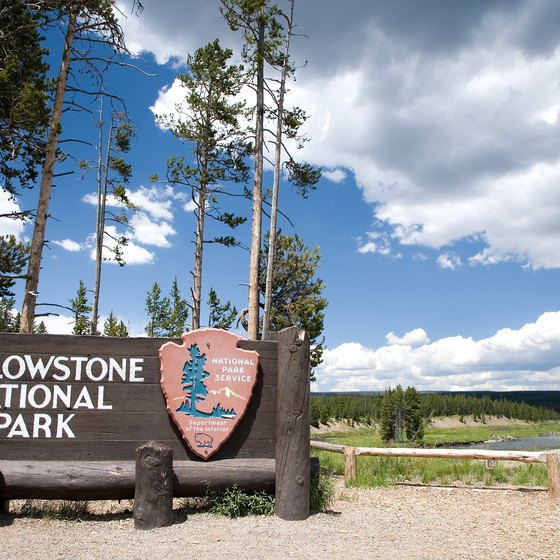 West Yellowstone, Montana, offers lodging a mile outside the park boundary.