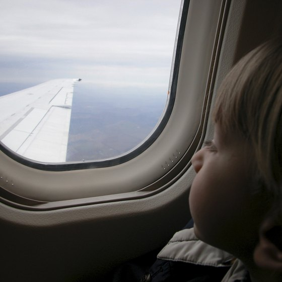 Bringing a new, small toy eases a child's flying stress.