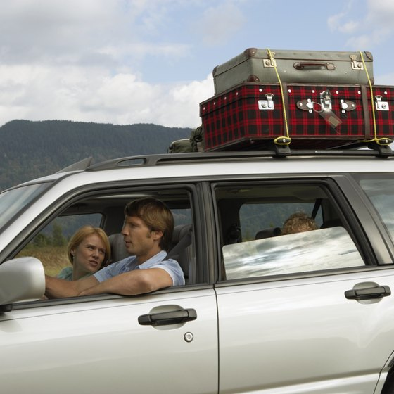 Use the luggage racks on an SUV when taking a road trip.