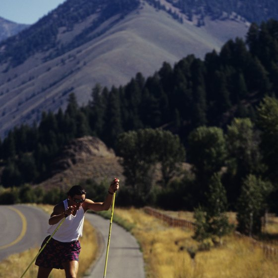 Both paved and dirt hiking trails give you views of Sun Valley's mountains.