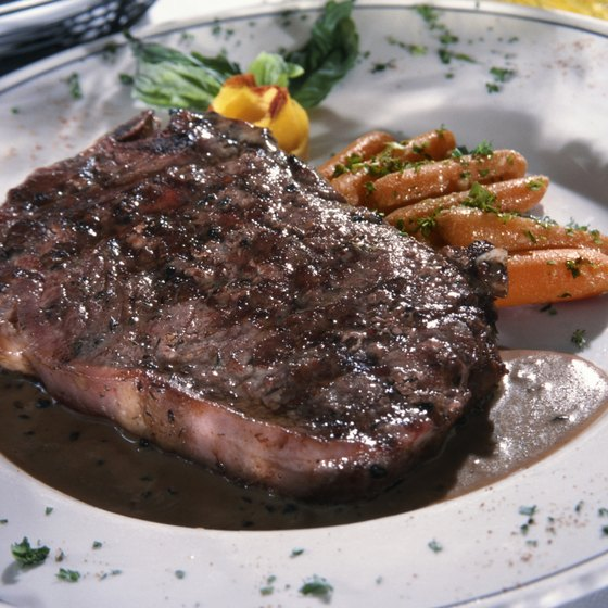 Enjoy a steak dinner along West End Avenue in Nashville.