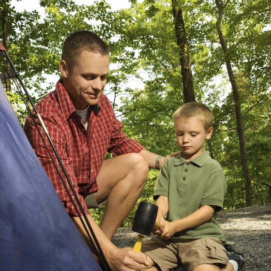 Tent camping is an activity for the whole family.