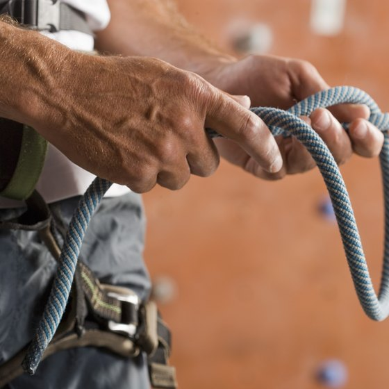 Check climbing equipment for any defects or damage before going for a climb.