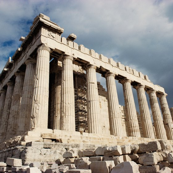 The Parthenon was built in honor of Athena, the goddess who gave Athens its name.