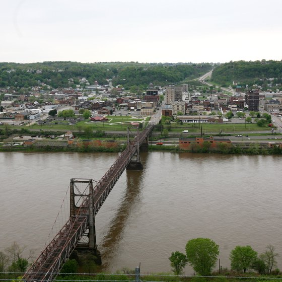 Steubenville sits on the bank of the Ohio River.