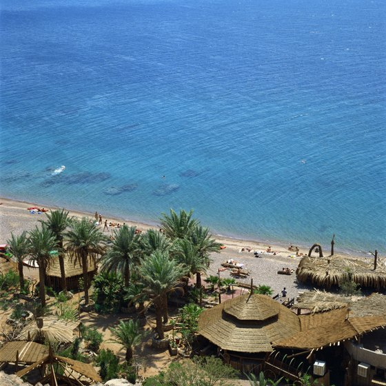A beach in Eilat, Israel.