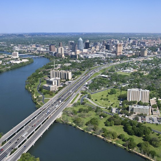 Numerous restaurants lie near the highways connecting Austin with Houston.