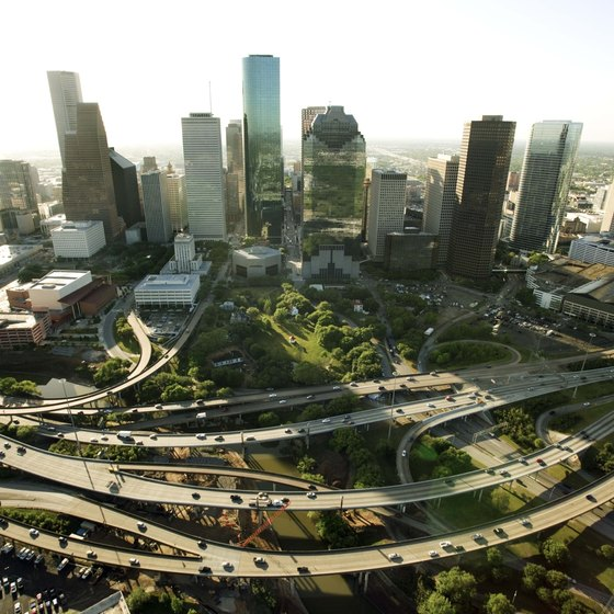Houston is a thriving Texas metropolis.