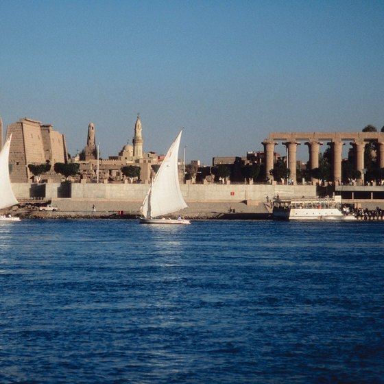Cruise on a felucca, the traditional working boat of the Nile.