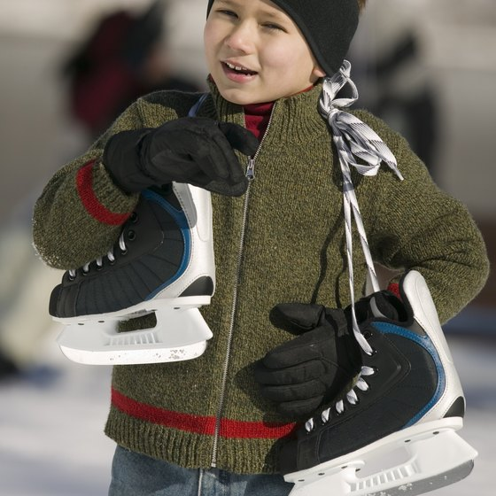 Treat your kids to a day of ice skating in NYC.