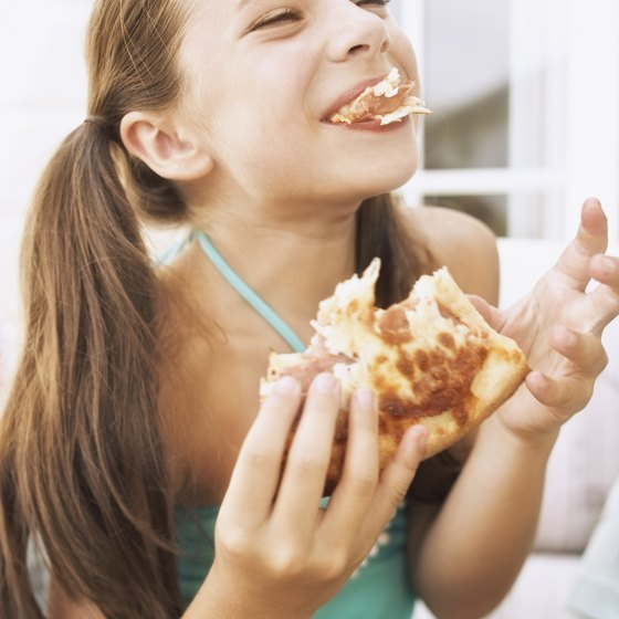 Pizza restaurants, with food for the entire family, are often popular with kids.