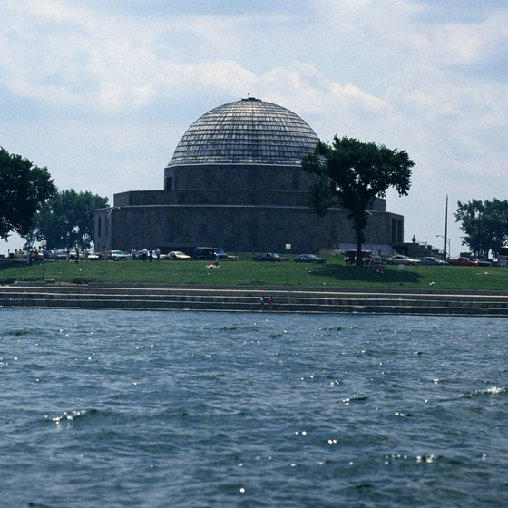 The Greek consulate in Chicago is about two miles from the Adler Planetarium.